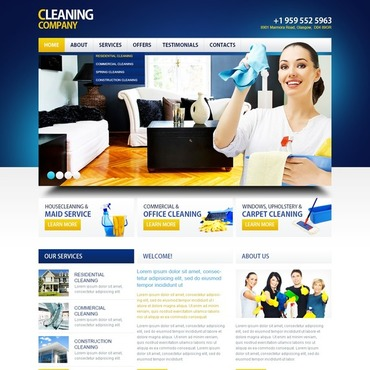 Cleaning Responsive Website Template #39377