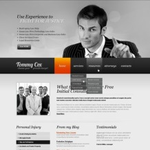 Lawyer Flash CMS Template