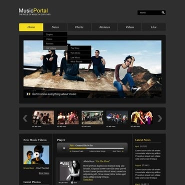 Music Portal Website Template