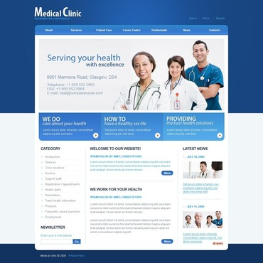 Medical Facebook Flash CMS Template