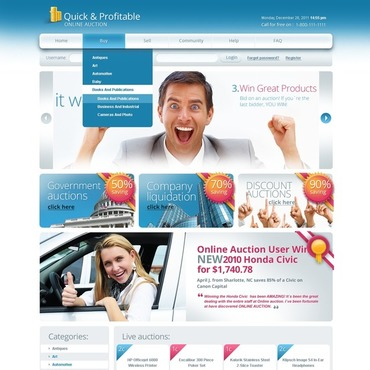 Auction Website Template