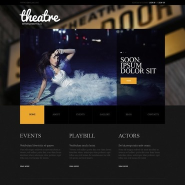Theater WordPress Theme