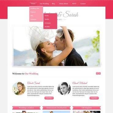 Wedding Album Website Template