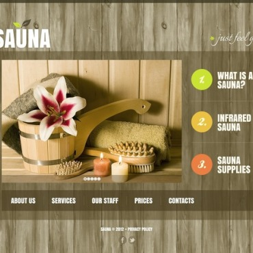 Sauna Website Template