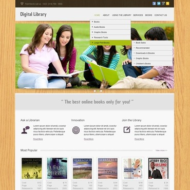 Library Website Template