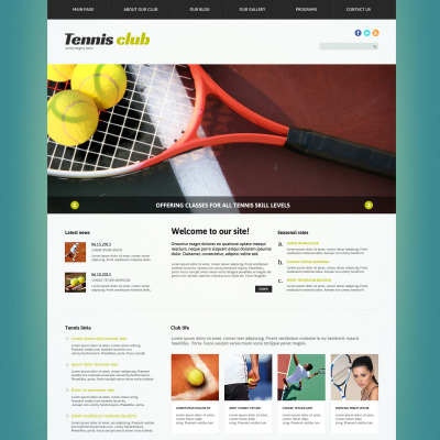 tennis joomla templates