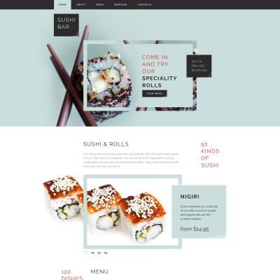 Sushi Bar Website Template