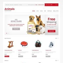 Pet Shop OpenCart Template