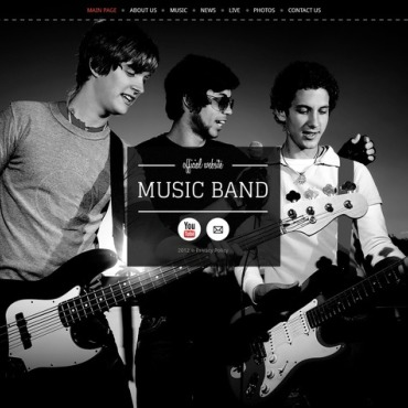 Music Band Website Template #40269