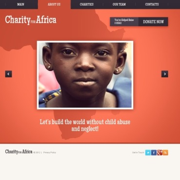 Child Charity Flash Template