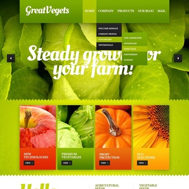 Vegetable Drupal Template