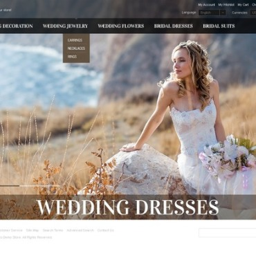 Wedding Dresses OpenCart Template