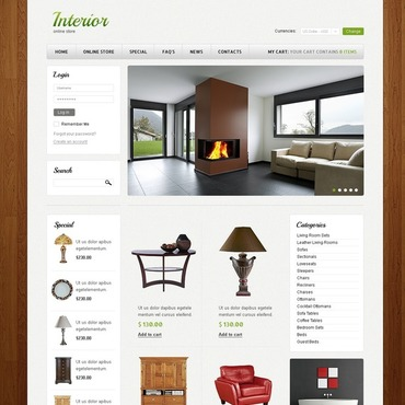 Interior Design VirtueMart Template