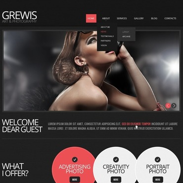 Photographer Portfolio Responsive Website Template #41241