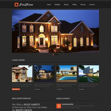 Real Estate Flash CMS Template