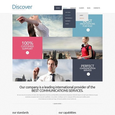 Communications Joomla Template