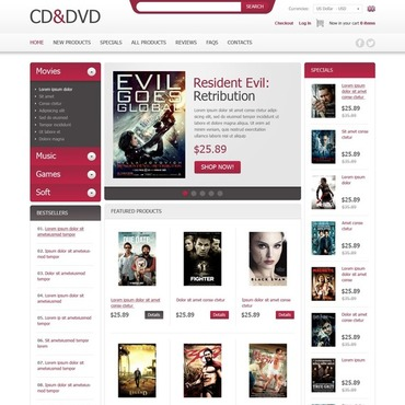 DVD Store ZenCart Template