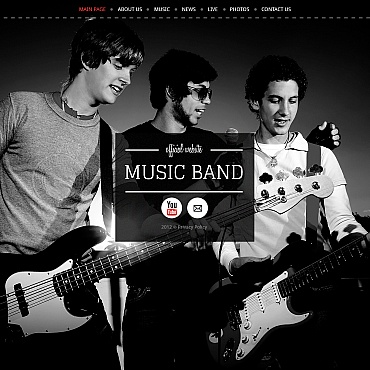 Music Band Moto CMS HTML Template