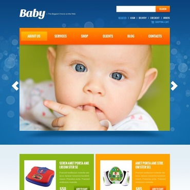 Baby Store Responsive Jigoshop Theme