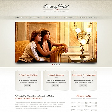 Hotels Moto CMS HTML Template