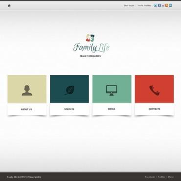 Family Center Website Template