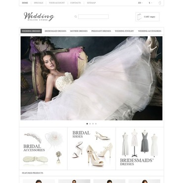 Wedding Dresses Responsive PrestaShop Theme