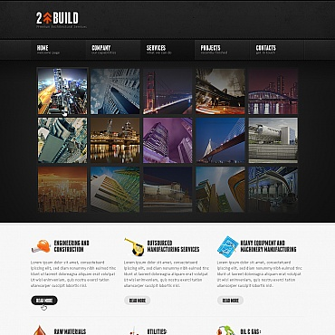 Architecture Moto CMS HTML Template
