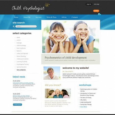 Family Psychologist Flash CMS Template