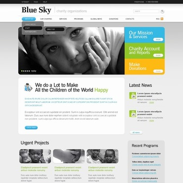 Child Charity Flash CMS Template