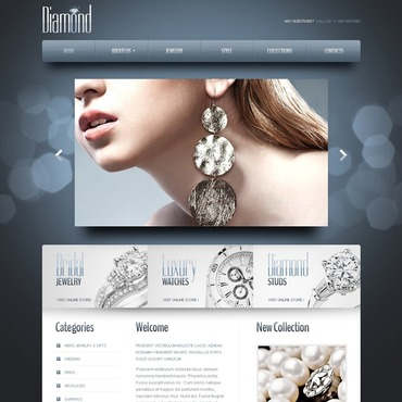 Jewelry Responsive Website Template #42433