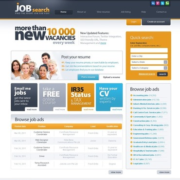 Job Portal Flash CMS Template