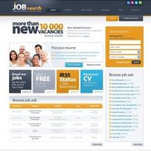 Job Portal Flash CMS Template