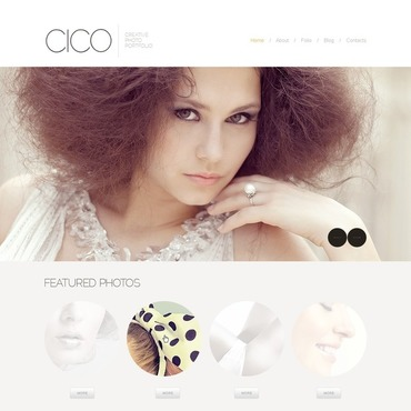 White Photographer Portfolio Joomla Template #43113