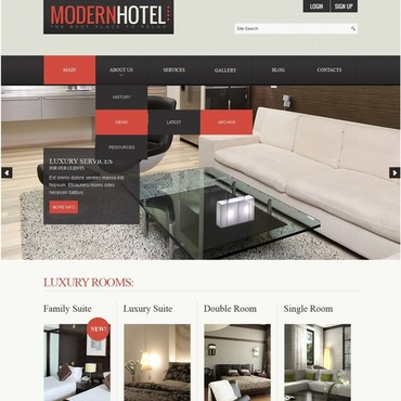 Hotels Joomla Template #43353