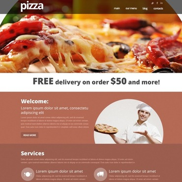Pizza Joomla Template
