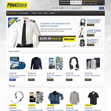 Private Airline Magento Theme