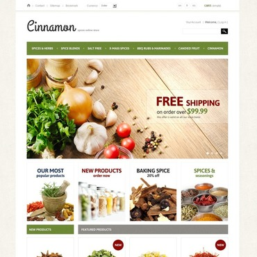 Spice Shop PrestaShop Theme
