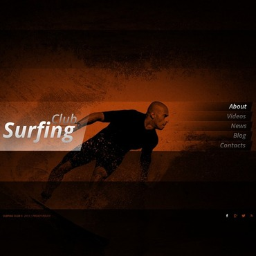 Surfing Website Template