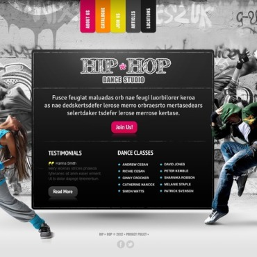 Dance Studio Flash CMS Template