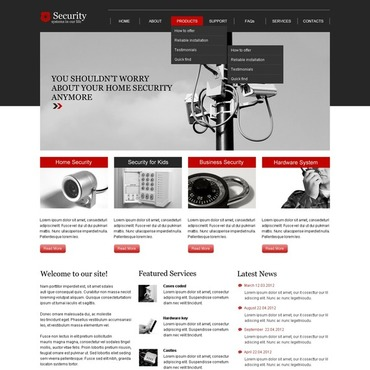 Security Responsive Website Template #44001
