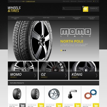 Wheels & Tires OpenCart Template #44025