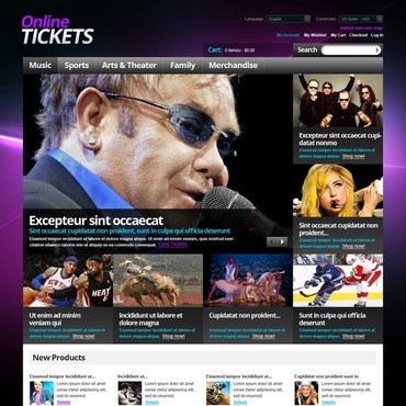 Tickets Website Magento Theme