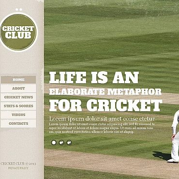 Cricket Moto CMS HTML Template