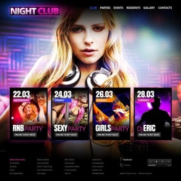 Night Club Flash CMS Template