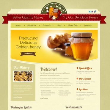 Honey Store Facebook HTML CMS Template