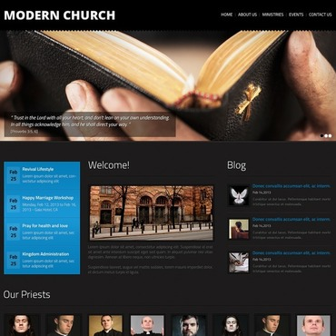 Religious Responsive Website Template