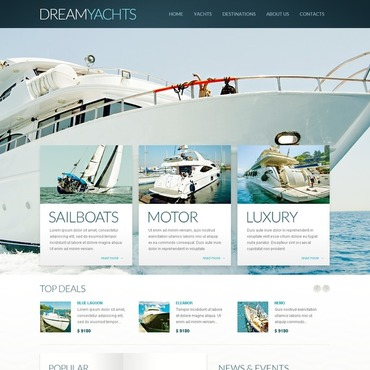 Yachting Drupal Template