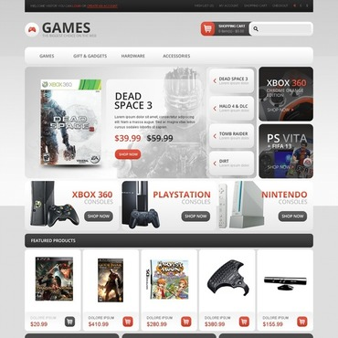 Games OpenCart Template
