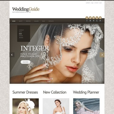 Wedding Dresses Responsive Joomla Template