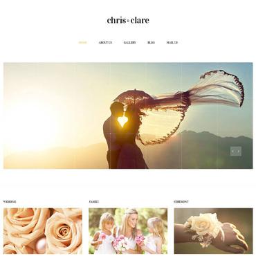 Wedding Album Responsive Website Template